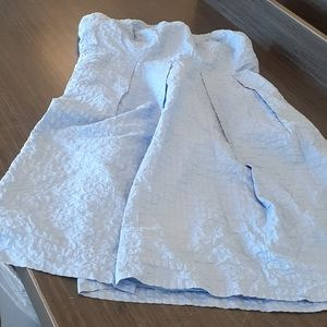 J. Crew sz 10 Strapless Ruffle Flare Denim Dress